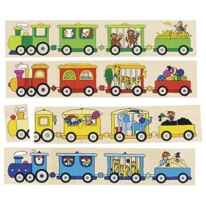 Puzzle & jeu de mémo 4 locomotive