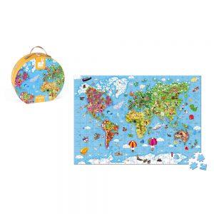 puzzle géant monde - JANOD
