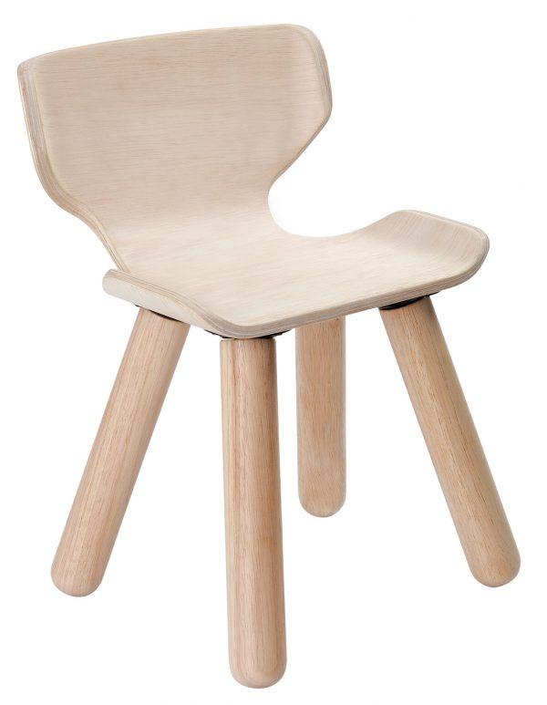 chaise en bois d'hévéa
