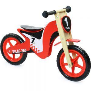 draisienne type moto vilac en bois, idéal pour apprendre l'équilibre
