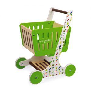 chariot de courses en bois JANOD