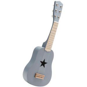guitare en bois, grise