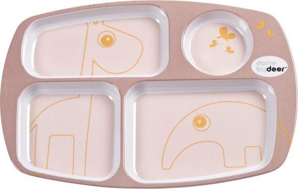 assiette compartimentée