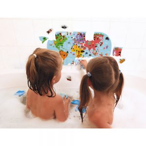 carte du monde bain
