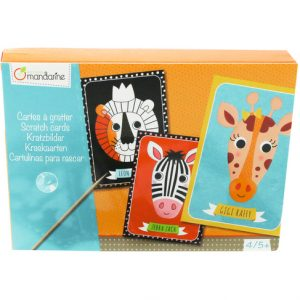 carte a gratter animaux