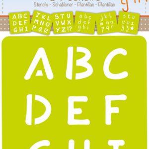 pochoirs alphabet