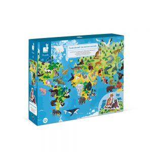 puzzle-educatif-geant-les-animaux-menaces-200-pcs