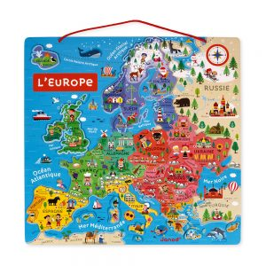 carte-d-europe-magnetique-bois