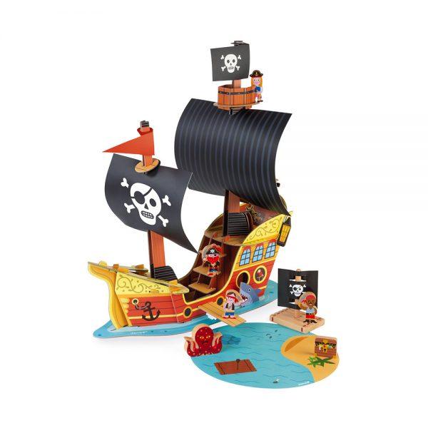 bateau-pirates-story-carton-et-bois