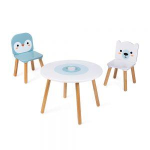 table-et-2-chaises-banquise-bois